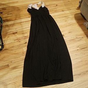 Cute long black maxi dress